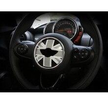 유니온 잭 스티어링 휠 센터 스티커 데칼 장식 bmw 미니 쿠퍼 jcw f55 f56 인테리어 자동차 스타일링 액세서리