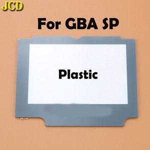 Image 3 - Jcd 1 pcs 플라스틱 유리 렌즈 gba sp 스크린 렌즈 커버 닌텐도 게임 보이 어드밴스 sp 렌즈 수호자 승/adhensive