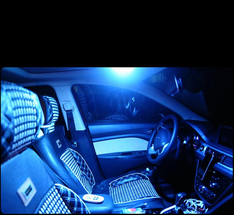 7 color remote control reading light 15 LED inside the lamp in the light of the T10 BA9S trunk lamp atmosphere lamp DC 12V in Signal Lamp from Automobiles Motorcycles