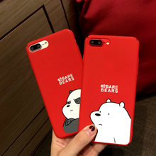 Fashion Carton Bear Phone Case For Iphone X XS Max XR 8 7 6 6S Plus Cases Matte Full Back Cover For Iphone 8 Plus Case Fundas(China)