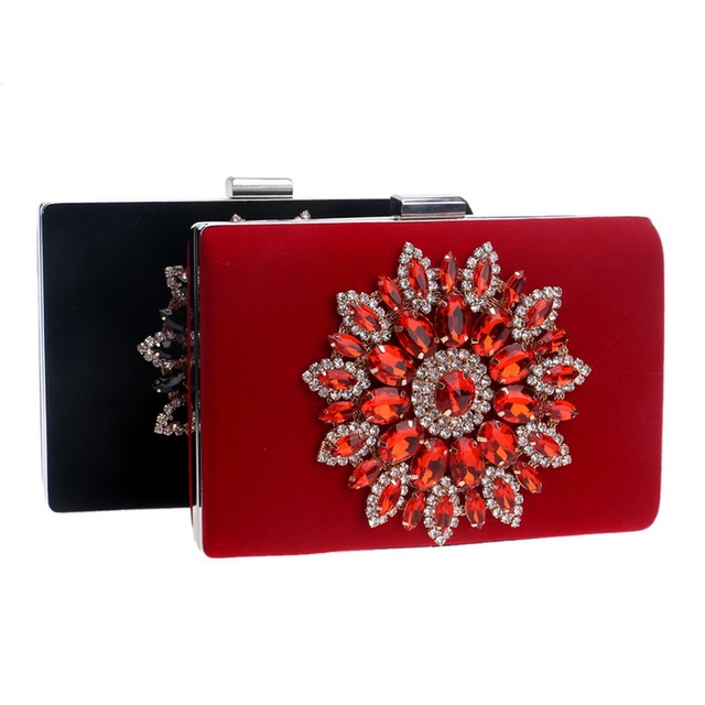 Women Rhinestones Clutch Handbag