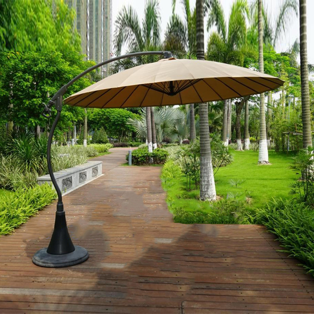 2.7meter 24K Steel Iron Ribs Hanging Patio Sun Umbrella Garden Parasol  Sunshade Outdoor Furniture Cover