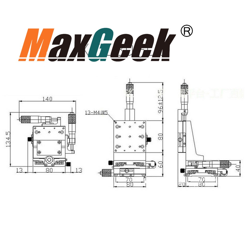 XYZ As Verticale Lift Lineaire Platform Motion Handleiding Podium Rolwagen 80mm