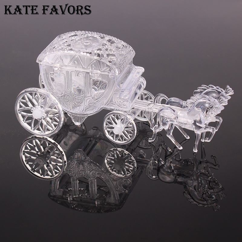 Clear Box Royal Carriage Cinderella Carriage Wedding Favors And Gifts Package Candy Box Small Box For Baby Shower Birthday Party