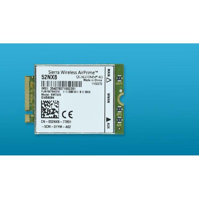 US $40 55 |Unlocked DW5809e EM7305 52NX8 K2W44 M 2 FDD LTE 4G WWAN Network  Card for Dell E5450 5550 E7450 E7250 7250 5450 E5550-in Network Cards from
