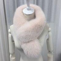 85X15cm Fox Fur Collar For Hood Natural Fox Fur Hood Trim Scarf Big Fur Collar 100% Real Fox Fur Collar Trim Custom Made