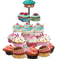 4 Tiers 23 Cups Stainless Steel Christmas Tree Shape Cake Holder Latest