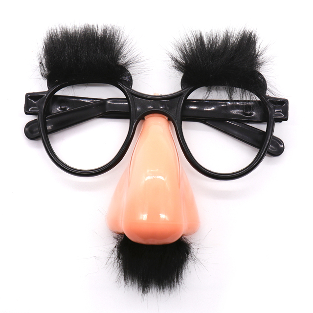 Halloween decorations Funny Foolish Nerd Black Old Man Glasses Eyebrow Nose with Mustache Costume Party Glasses Day Props suppl
