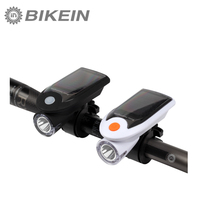 Cycling Bike Solar Energy USB Rechargeable 2 In 1 Bicycle Safety Warning Lamp LED Front Light