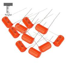 Tooyful 10pcs Pro Capacitor Guitar Tone Cap 0.022uF 600V Electric Guitar Bass Project 10pcs Orange(China)