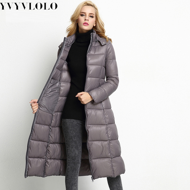 2016 Casual Winter Coat Women's Slim Long Parka Jackets Coats Overcoat Winter Jacket Women Plus Size Thick Down Parkas