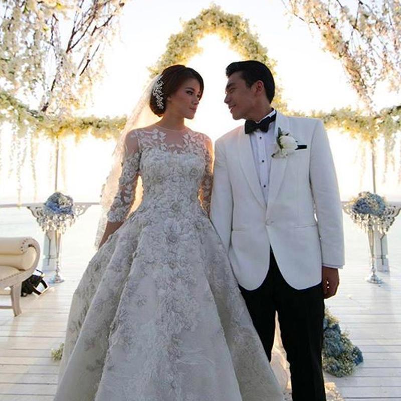 Aliexpress.com : Buy Gorgeous Long train Wedding Dresses 2016 ...