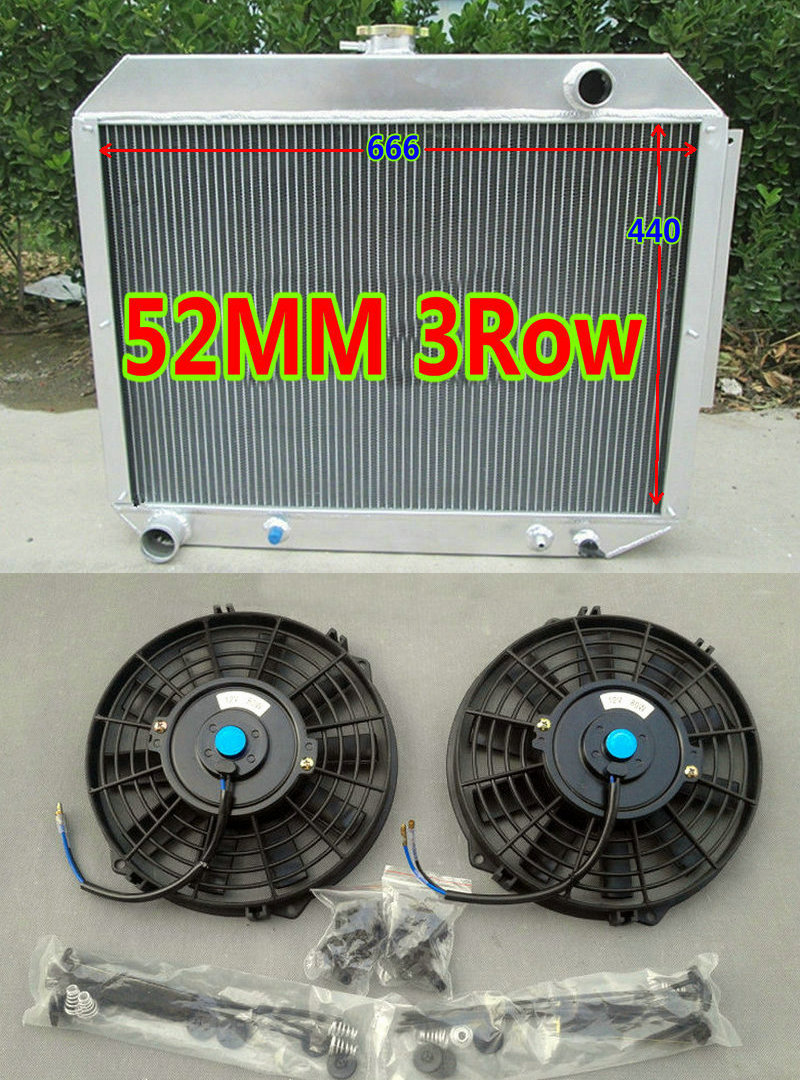 3row aluminum radiator fans for 1966 1970 chrysler dodge plymouth fury polara monaco 300 300c. Black Bedroom Furniture Sets. Home Design Ideas