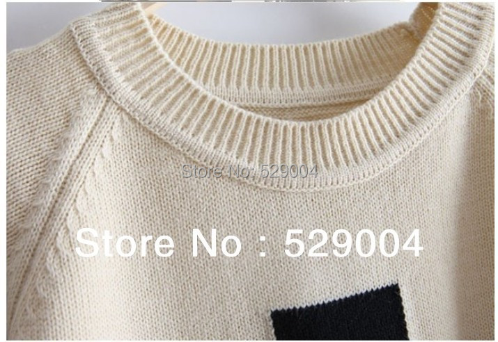 Fashion Women Clothing Cross Pattern Wool Sweaters Black/White pullovers Ladies Sweaters free shipping