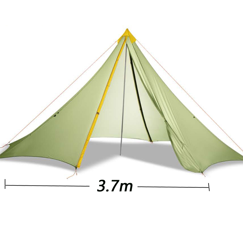 370cm x 370cm x 250cm 5 10 persons 20D silnylon big pyramid outdoor camping tent