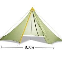 250 см x 370 см x 370 см 5 10 человек 20D silnylon большая пирамида Наружная палатка
