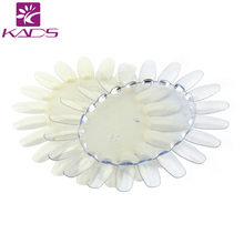 2016 KADS 10pcs/pack Oval Shaped Professional Nail Art Display Plate With 20 Tips in One Plate For Trainers Practice