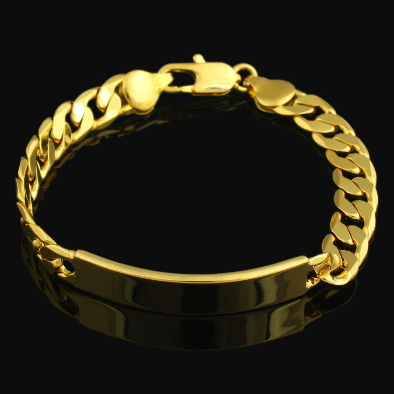 Dubai Gold Bracelet For Men Color Link Chain Bracelets Bangles African Women Fashion Jewelry In From Accessories