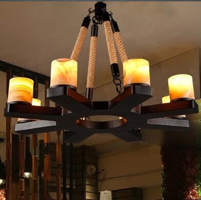Us 466 44 22 Off Doxa American Rustic Pendant Lamps Resin Vintage Light Fixtures Marble Suspension Luminaire Living Room Bedroom Iluminacion In