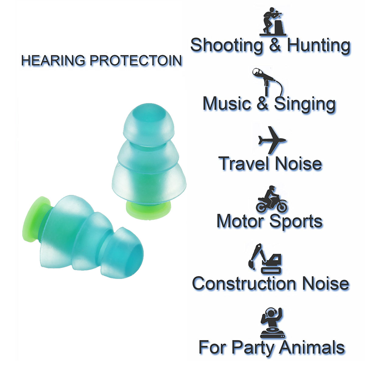 Image 5 - Safurance 1 par cancelamento de ruído proteção auditiva tampões  para concertos músico motocicletas silicone reutilizável tampões de  ouvidoProtetor auricular