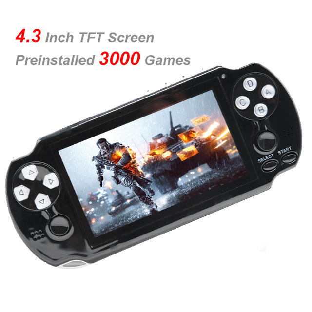 64 Bit 4.3 Inch Handheld Game Console Multifunction System Support CP1/CP2/NEOGEO/GBA/GBC/GB Games Built-in 3000 Retro Games
