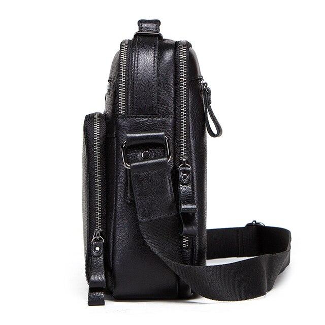 CONTACT'S 100% genuine leather men shoulder bag crossbody bags for men high quality bolsas fashion messenger bag for 9.7 2