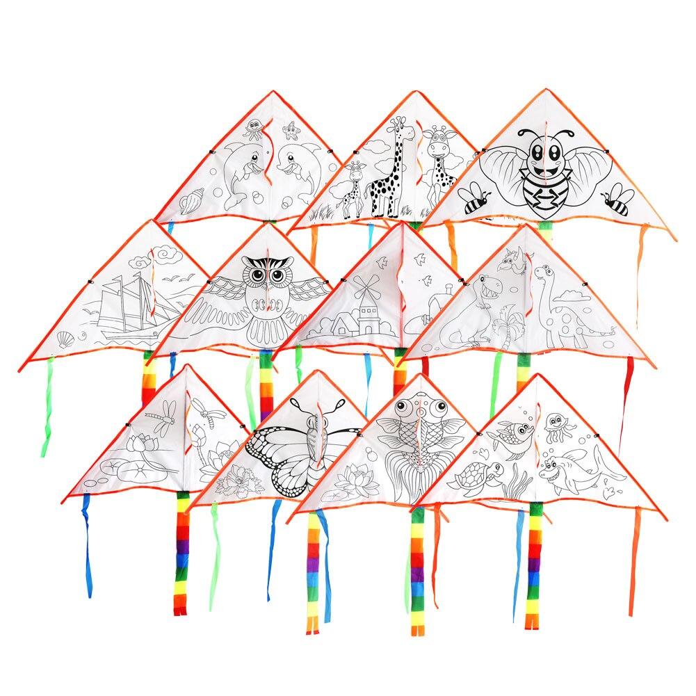 1 Набор граффити воздушный змей Сделай Сам воздушный змей пустые пространства начинающие способность легкие детские игрушки упражнения на открытом воздухе творческие