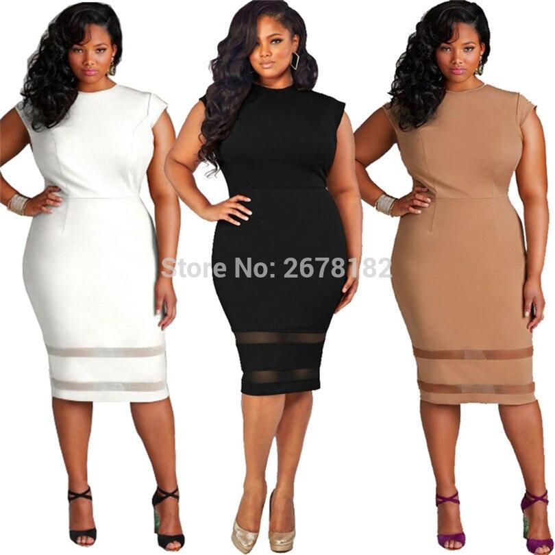 Summer Europe Fashion Women Dress Streetwear Casual Sexy Sleeveless O Neck  Black White Dress Plus Size Female Knee Length Dress-in Dresses from Women s  ... 896ec909e04f