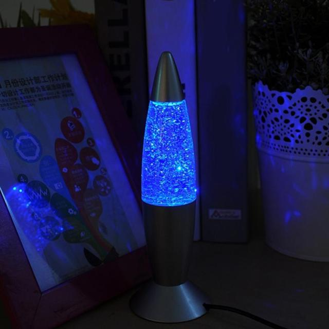 3D Rocket Multi Color Changing Lava Lamp RGB LED Glitter Party Mood Night Light Christmas Gift Bedside Night lamp