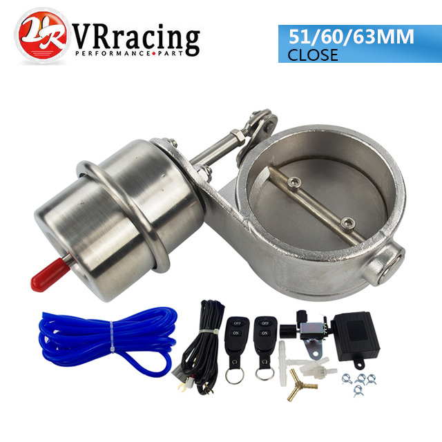 VR - NEW vacuum Activated Exhaust Cutout 2'' 51MM or 2.4 60mm or 2.5 63mm Close Style with Wireless Remote Controller Set