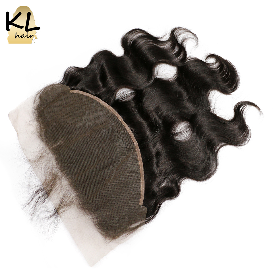 KL Hair Body Wave 13x6 Ear To Ear Lace Frontal Closure With Baby Hair Pre Plucked