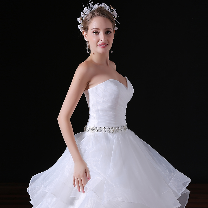 2019 Sexy Illusion Wedding Dresses Satin Sash Tiered Ruffles Custom Made  Plus Size Ball Bridal Gowns-in Wedding Dresses from Weddings   Events on ... 6f0b0a18a7aa