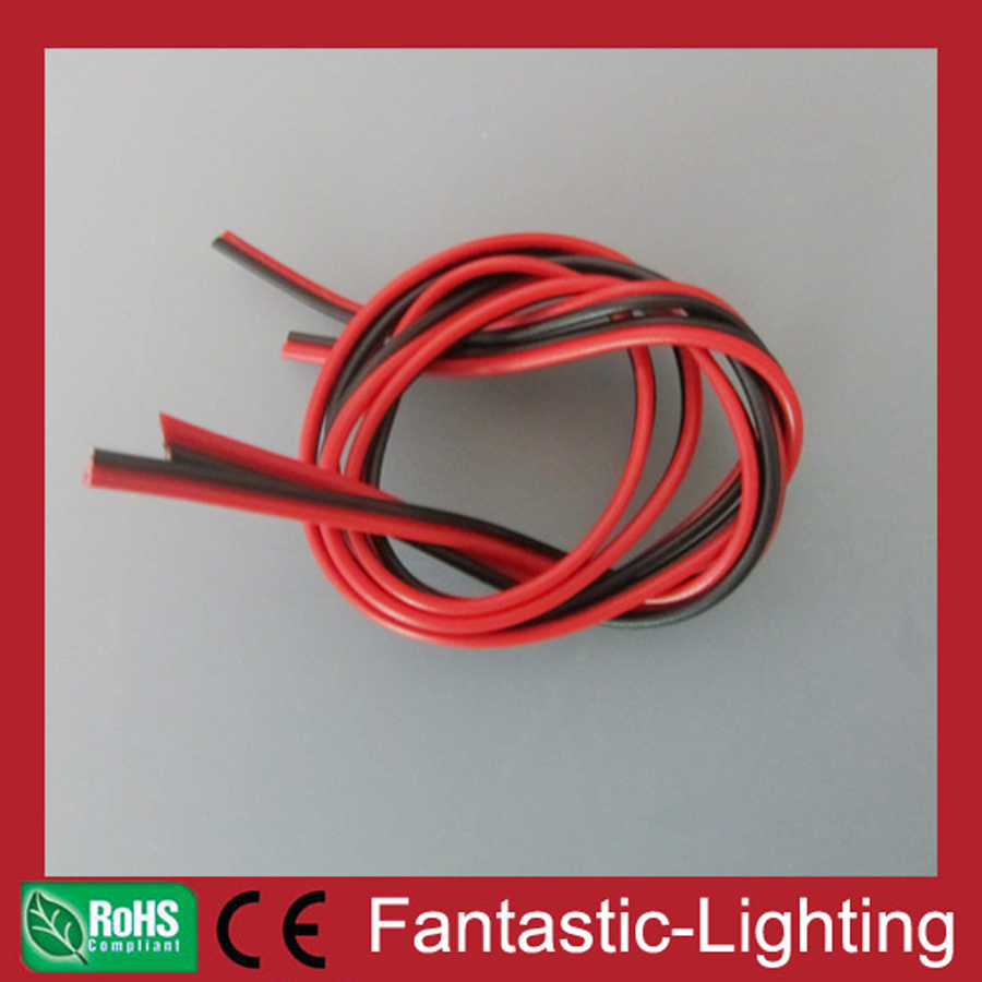LED Cable 2 pin PVC Lighting Wire red and black AWG22 5M 8M 10M 20M ...