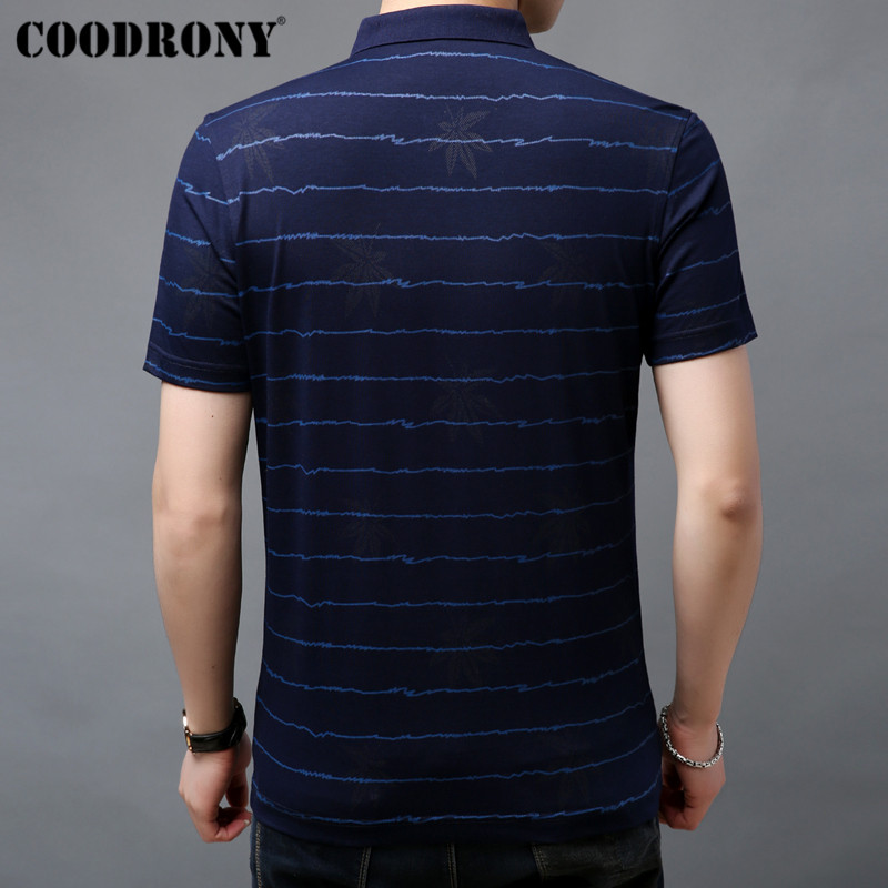 COODRONY Brand Soft Cotton T Shirt Men Striped Short Sleeve T Shirt Men Summer Streetwear Business Casual Men 39 s T Shirts S95057 in T Shirts from Men 39 s Clothing