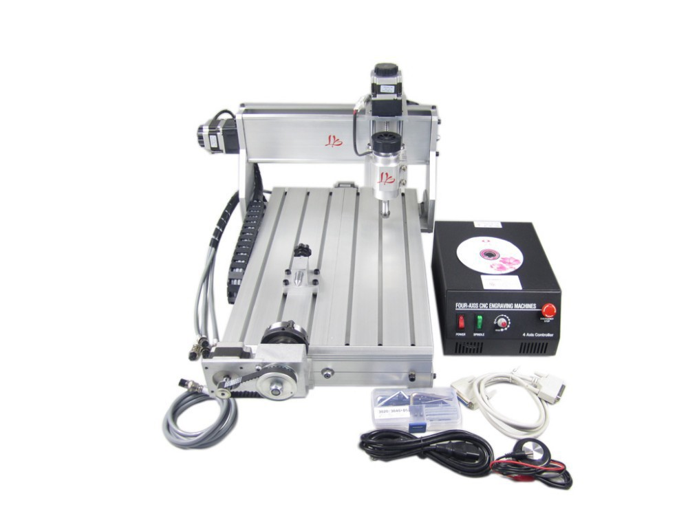 Free shipping CNC router 3040Z-DQ upgraded from cnc 3040 wood carving machine 3040T-DJ, with 4th axis (a axis),engraving machine