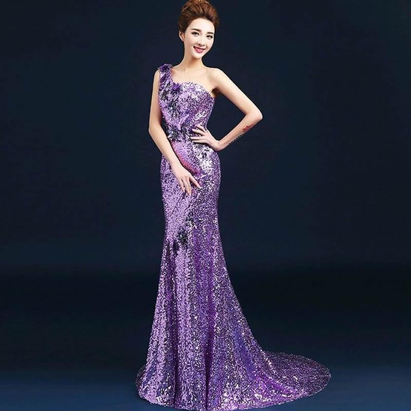 Traditional chinese wedding dress white purple