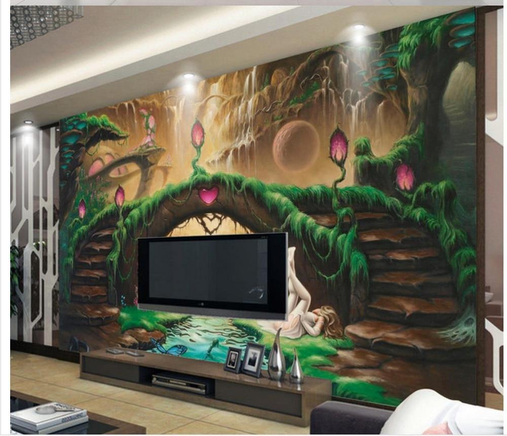 popular fantasy wall murals buy cheap fantasy wall murals lots home decoration 3d wall murals wallpaper european fantasy fairy tale tv backdrop photo mural wallpaper