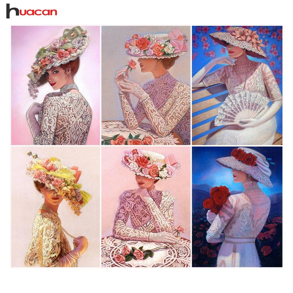 DIY 5D Diamond Embroidery Beauty Women Full Square Rhinestones Diamond Painting Cross Stitch Mosaic Crafts Kit Home Decor Gifts