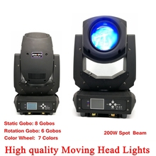 Stage Lighting LED Spot Moving Head Light 200W Beam 2IN1 Display With DJ Laser lighting Disco Party Lights