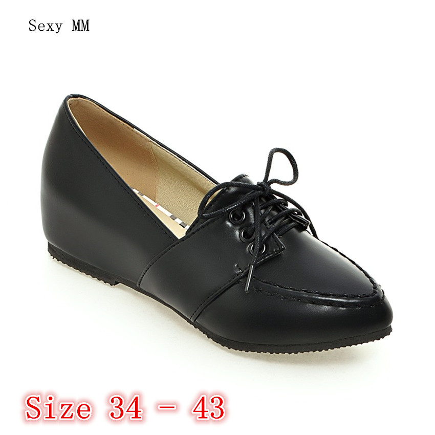 Slip On Shoes Flat Platform Women Oxfords Shoes Loafers Flats Woman Casual Shoes High Quality Plus Size 34 - 40 41 42 43 new round toe slip on women loafers fashion bow patent leather women flat shoes ladies casual flats big size 34 43 women oxfords