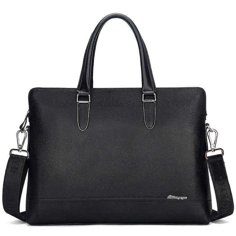 Men's Bag Computer Interior-Compartment Business Single-Shoulder Portable Genuine Real