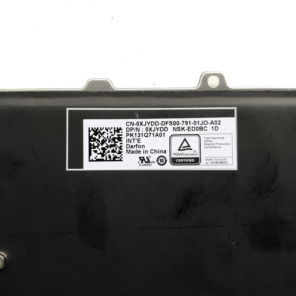 Dell Alienware 13 R3 Alienware 15 R3 US-English Backlit Keyboard XJYDD