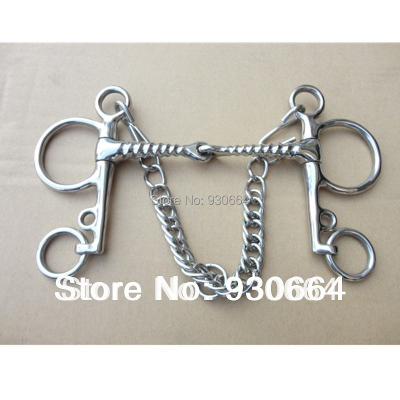Horse Product Pelham Stainless Steel Bit  135mm Mouthpiece Horse Bit H0955