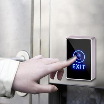 DC 12 V bezpieczeństwa drzwi rozpoznawanie linii papilarnych urządzenie dotykowy przycisk wyjścia czujnik na podczerwień przełącznik do drzwi dla system kontroli dostępu do drzwi tanie i dobre opinie Safety Fingerprint Recognition