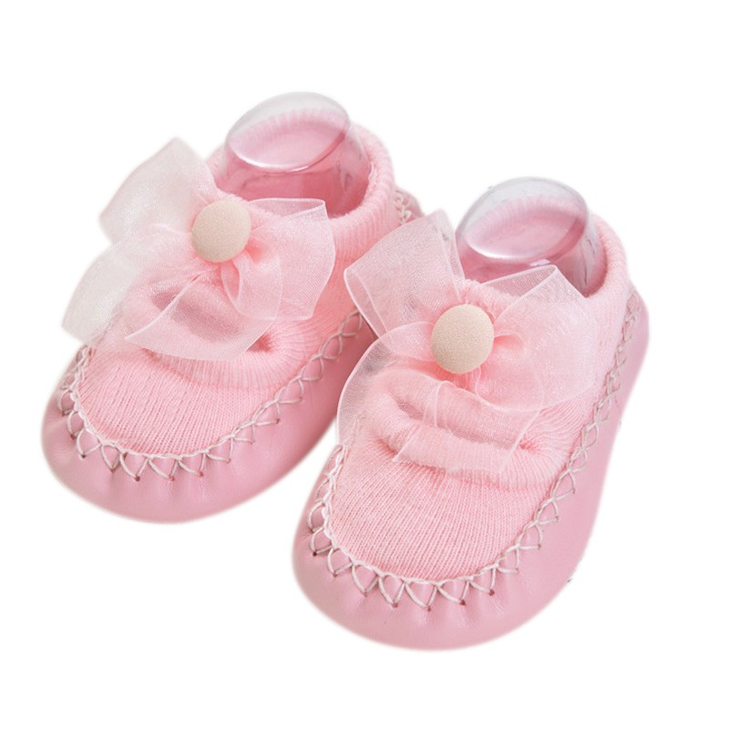 Bebé niños niñas primavera otoño algodón zapatos calcetines lindos calientes antideslizantes zapatos de suelo infantil calcetines calentador interior caminar aprendizaje Calcetines - 4