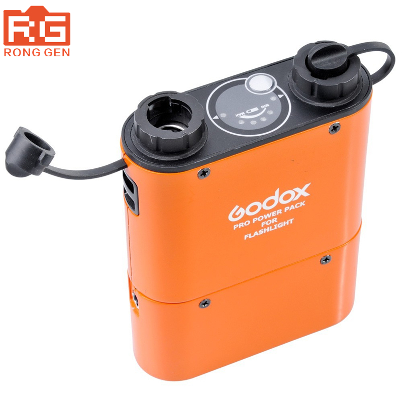 Godox PB960 Dual-Output Speedlite Flash Power Battery Pack 4500mAh for Canon Nikon SONY GODOX YONGNUO Black or Orange godox pb960 dual output flash battery power pack 4500mah adapter cable for canon nikon sony godox yongnuo flash black