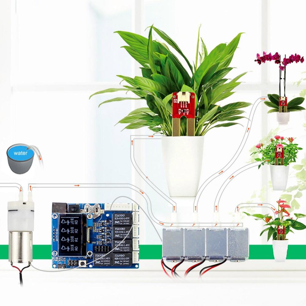 Elecrow Automatique Intelligent Arrosage Des Plantes Kit pour Arduino Jardin Arrosage Kits Électroniques bricolage Maison Pompe À Eau sonde d'humidité du sol