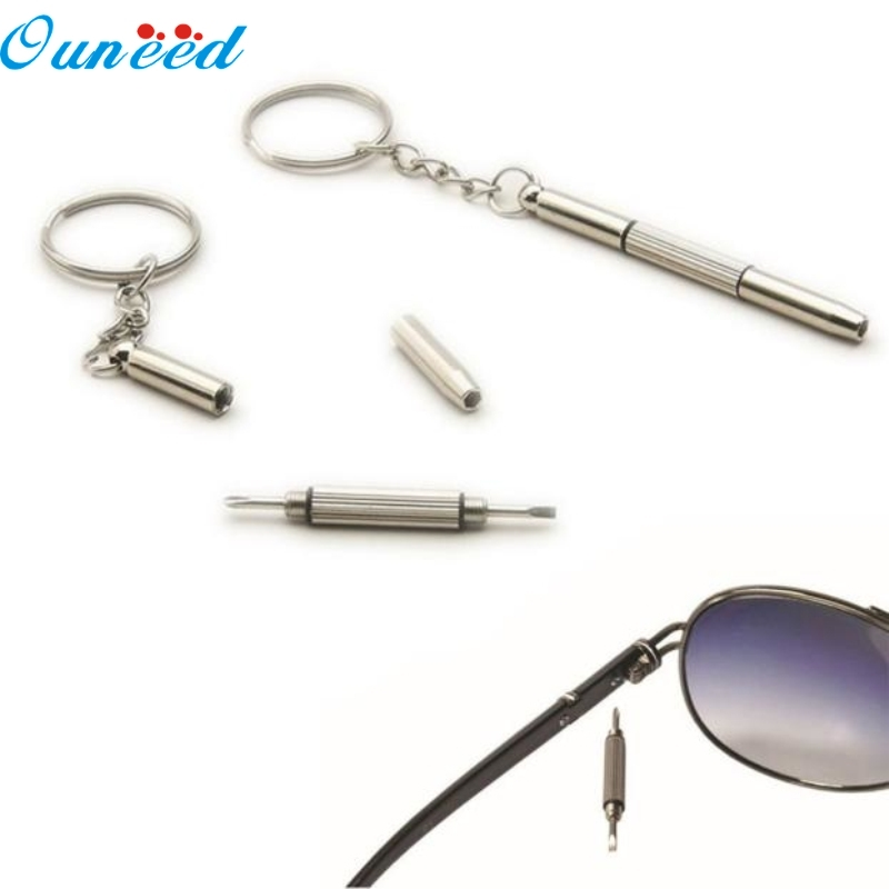 Ouneed Home Pocket Precision Multi-Bit Screwdriver Glasses Cellphone Watch Repair Tool Set 1PC new repair keychain screwdriver tool for home sunglasses eyeglass cellphone watch high quality