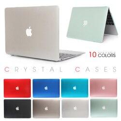 Cristal caso do portátil para apple macbook mac ar pro retina 11 12 13 15 15.4 13.3 polegada com barra de toque manga saco capa escudo