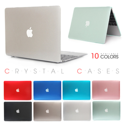 Crystal Laptop Case For Apple Macbook Mac Book Air Pro Retina 11 12 13 15 15.4 13.3 inch with Touch Bar Sleeve Bag Shell Cover
